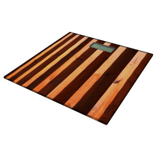 Wooden beams bathroom scale