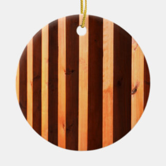 Wooden beams ceramic ornament