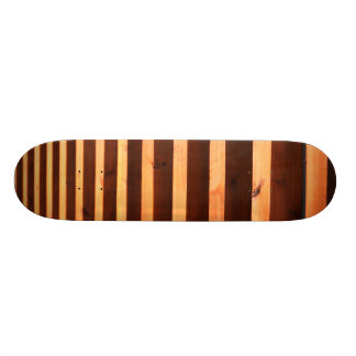 Wooden beams skateboard