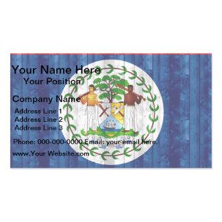 Wooden Belizean Flag Business Card Template