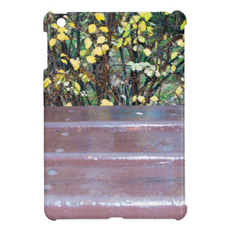 Wooden bench after a rain iPad mini covers