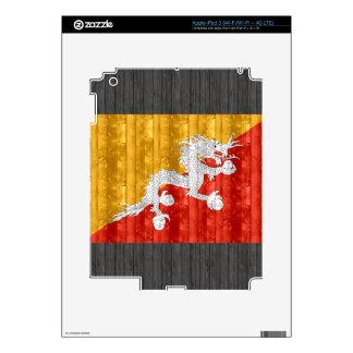 Wooden Bhutanese Flag Skins For iPad 3