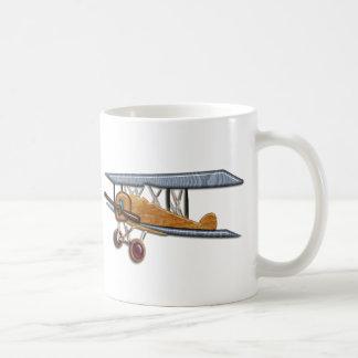 Wooden Biplane Coffee Mug