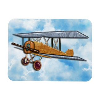 Wooden Biplane Magnet