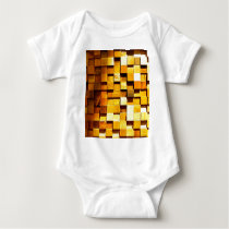 Wooden Blocks Pattern Baby Bodysuit