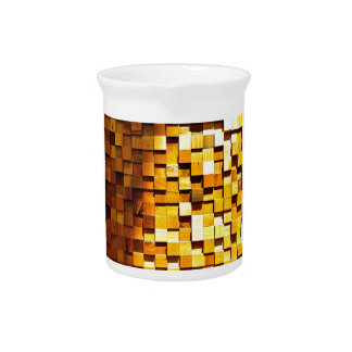 Wooden Blocks Pattern Pitchers
