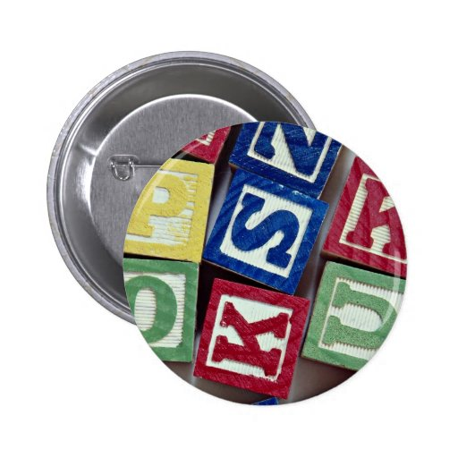 Wooden blocks with alphabets for kids buttons
