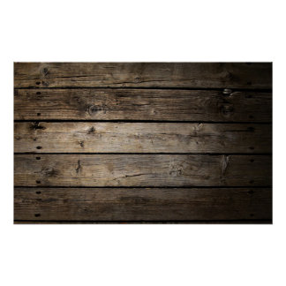 Wooden Board Architect Office Wall Poster