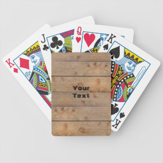 Wooden Board (customizable) Bicycle Playing Cards