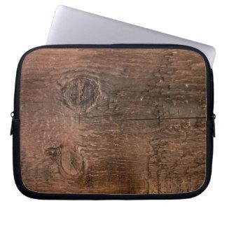 Wooden board laptop sleeve
