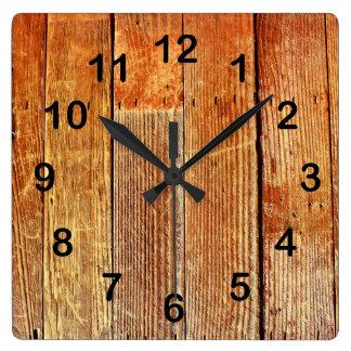 Wooden board texture wall clocks