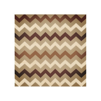 Wooden board with zig-zag stripes wood print