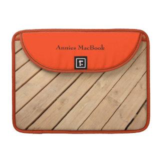 Wooden boards MacBook pro sleeve