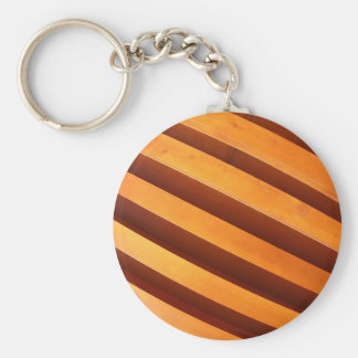 Wooden boards wall with wide angle fisheye view basic round button keychain