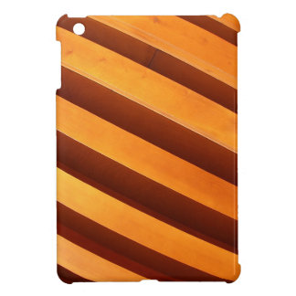 Wooden boards wall with wide angle fisheye view cover for the iPad mini