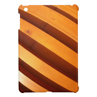 Wooden boards wall with wide angle fisheye view iPad mini cases