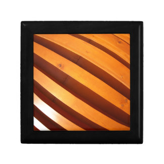 Wooden boards wall with wide angle fisheye view jewelry box