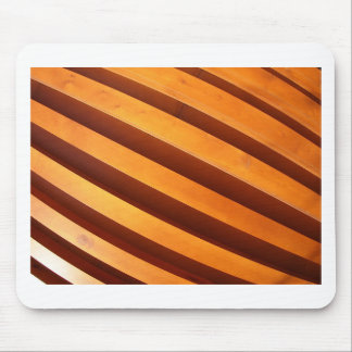 Wooden boards wall with wide angle fisheye view mouse pad