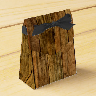 Wooden Boards Wood Panel Party Favor Box
