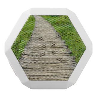 Wooden Boardwalk Hiking Trail White Bluetooth Speaker
