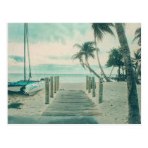 Wooden Boardwalk onto Smathers Beach, Key West FL Postcard