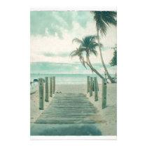 Wooden Boardwalk onto Smathers Beach, Key West FL Stationery