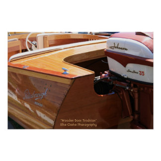 Wooden Boat and Nomad Motor Photography Poster