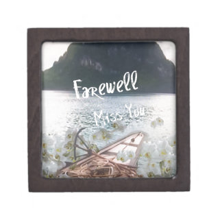 wooden boat  miss you.PNG Gift Box