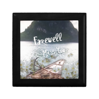 wooden boat  miss you.PNG Jewelry Box