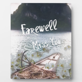 wooden boat  miss you.PNG Plaque