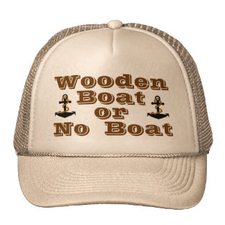 Wooden Boat or No Boat Hat