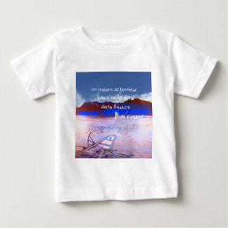 Wooden boat with message. baby T-Shirt