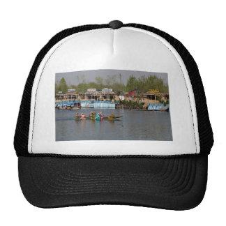 Wooden boats on Dal Lake in Kashmir Trucker Hat