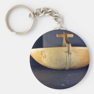 Wooden Bowl Side View Keychain