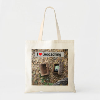 Wooden Box Hide: Geocaching Tote Bag