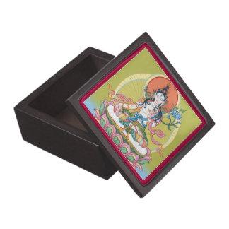 WOODEN BOX - White Tara - Buddha of Longevity