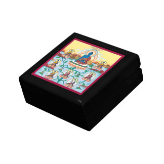 WOODEN BOX WITH TILE- 8 Medicine Buddhas - Healing