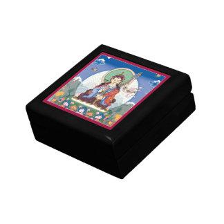 WOODEN BOX WITH TILE - Padmasambhava/Guru Rinpoche