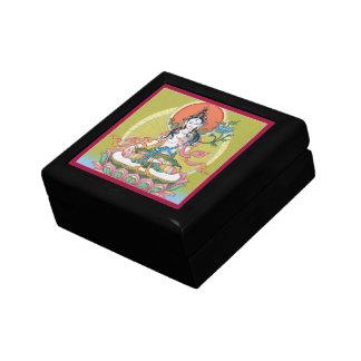 WOODEN BOX WITH TILE- White Tara -Longevity Buddha