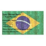 Wooden Brazilian Flag Business Card Templates