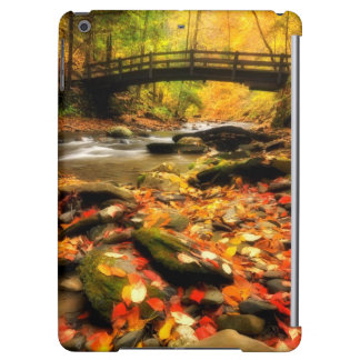 Wooden Bridge and Creek in Fall Cover For iPad Air