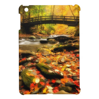 Wooden Bridge and Creek in Fall Cover For The iPad Mini
