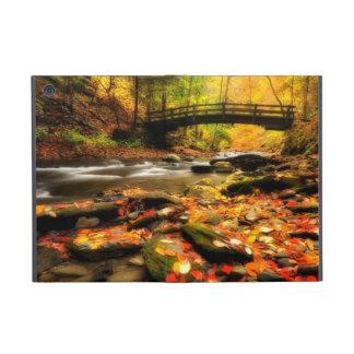 Wooden Bridge and Creek in Fall Covers For iPad Mini