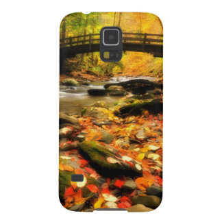 Wooden Bridge and Creek in Fall Galaxy S5 Case