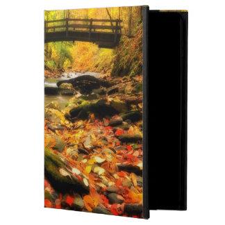 Wooden Bridge and Creek in Fall iPad Air Case