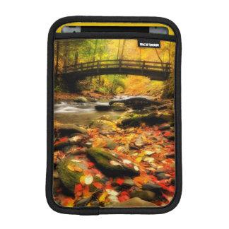 Wooden Bridge and Creek in Fall iPad Mini Sleeve
