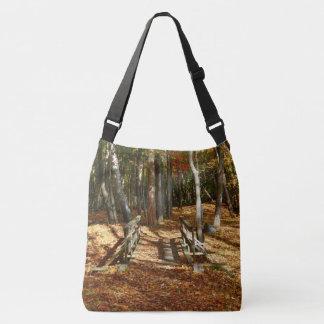 Wooden Bridge Autumn Scenery 2015 Crossbody Bag