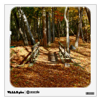 Wooden Bridge Autumn Scenery 2015 Wall Sticker