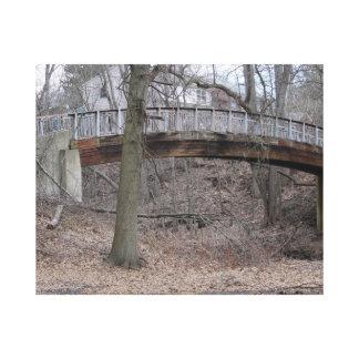 wooden bridge canvas prints