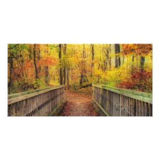 Wooden Bridge HDR Personalized Photo Card